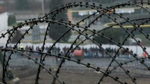 مهاجرون ينتظرون عند نقطة عبور بين النمسا وسلوفينيا في كانون الأول/ديسمبر