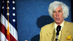 Esmond Martin lors d'une conférence de presse à Washington, le 5 mai 2008.