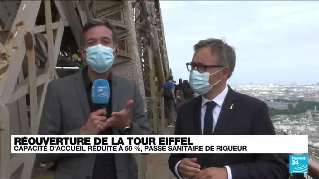 2021-07-16 16:20 Covid-19 en France : la Tour Eiffel rouvre après plus de huit mois de fermeture
