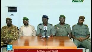 الضباط المشاركون في الانقلاب العسكري في مالي،