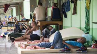 Des réfugiés cubains à Costa Rica, le 26 novembre 2015.