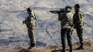 Des soldats turq en patrouille dans la région de Siirt en novembre 2016.