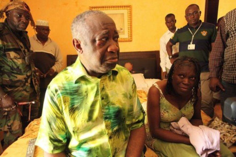 Gbagbo and his wife Simone are under arrest in their Abidjan residence on April 11, 2011.