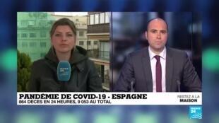 2020-04-01 12:00 Pandémie de Covid-19 : Triste record en Espagne, 864 décès en 24 heures