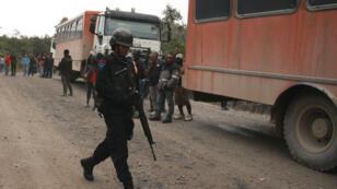 Policier indonésien en Papouasie occidentale, le 17 août 2013.