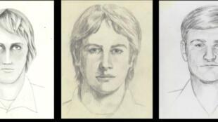 Différents portraits-robot du tueur.