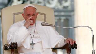 El Papa Francisco celebra la audiencia general semanal en el Vaticano, el 24 de abril de 2019.