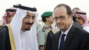 Le roi Salmane et le président François Hollande, à Riyad, en mai 2015.