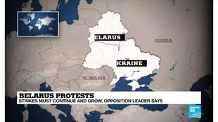 2020-08-21 14:02 Belarusian opposition leader calls for strikes to continue
