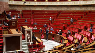 French La Republique En Marche (LREM) deputy Yael Braun-Pivet attends a debate on an emergency law to face the spread of the coronavirus disease (COVID-19) at the National Assembly in Paris, France March 22, 2020.
