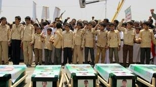 Forty children were among 51 people killed in a Saudi-led coalition air strike on a bus in rebel-held northern Yemen in August 2018