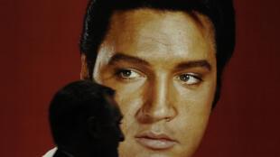 Une photo d'Elvis Presley à New York en 2008
