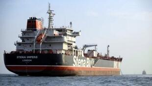 Le navire sous pavillon britannique Stena Impero, ici le 23 juillet 2019, a été saisi par Téhéran dans le détroit d'Ormuz.