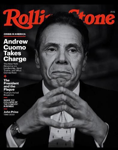 Le gouverneur de l'État de New York fait la une du célèbre magazine culturel américain Rolling Stone.