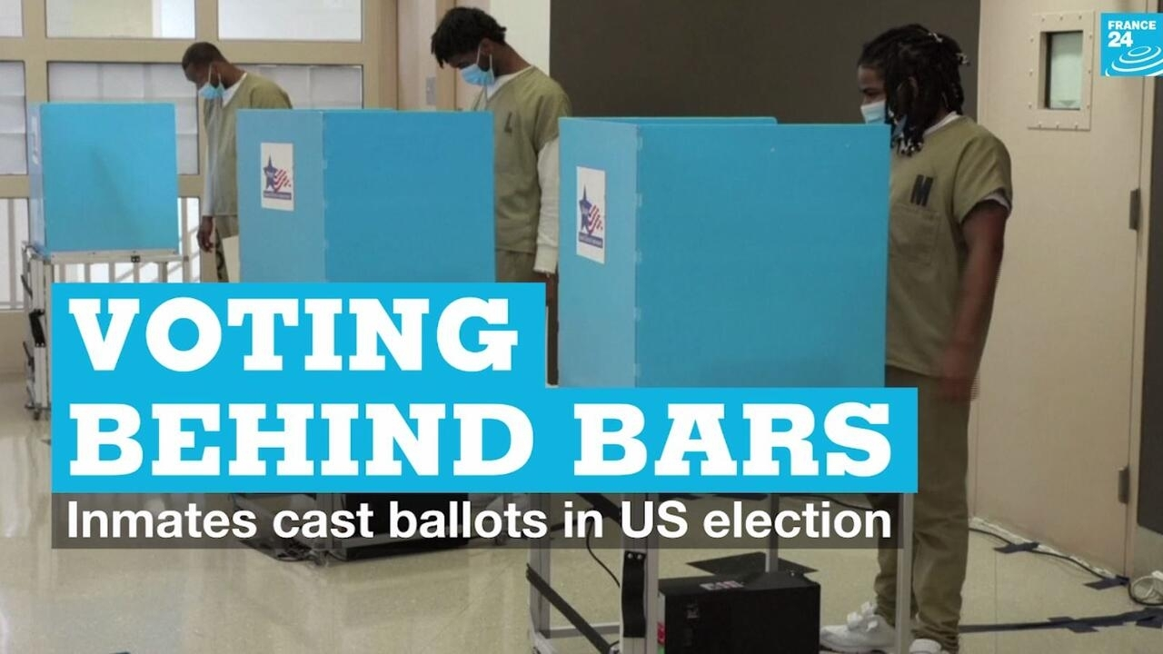 Voting behind bars: Inmates cast ballots in US election