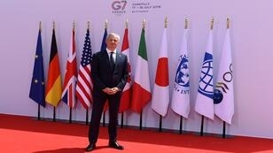 وزير المالية والاقتصاد الفرنسي برونو لو ماير يستقبل وزراء مجموعة السبع في شانتيلي، فرنسا، 17 يوليو/تموز 2019