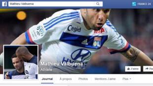Capture d'écran de la page Facebook de Mathieu Valbuena, en date du 6 novembre 2015.