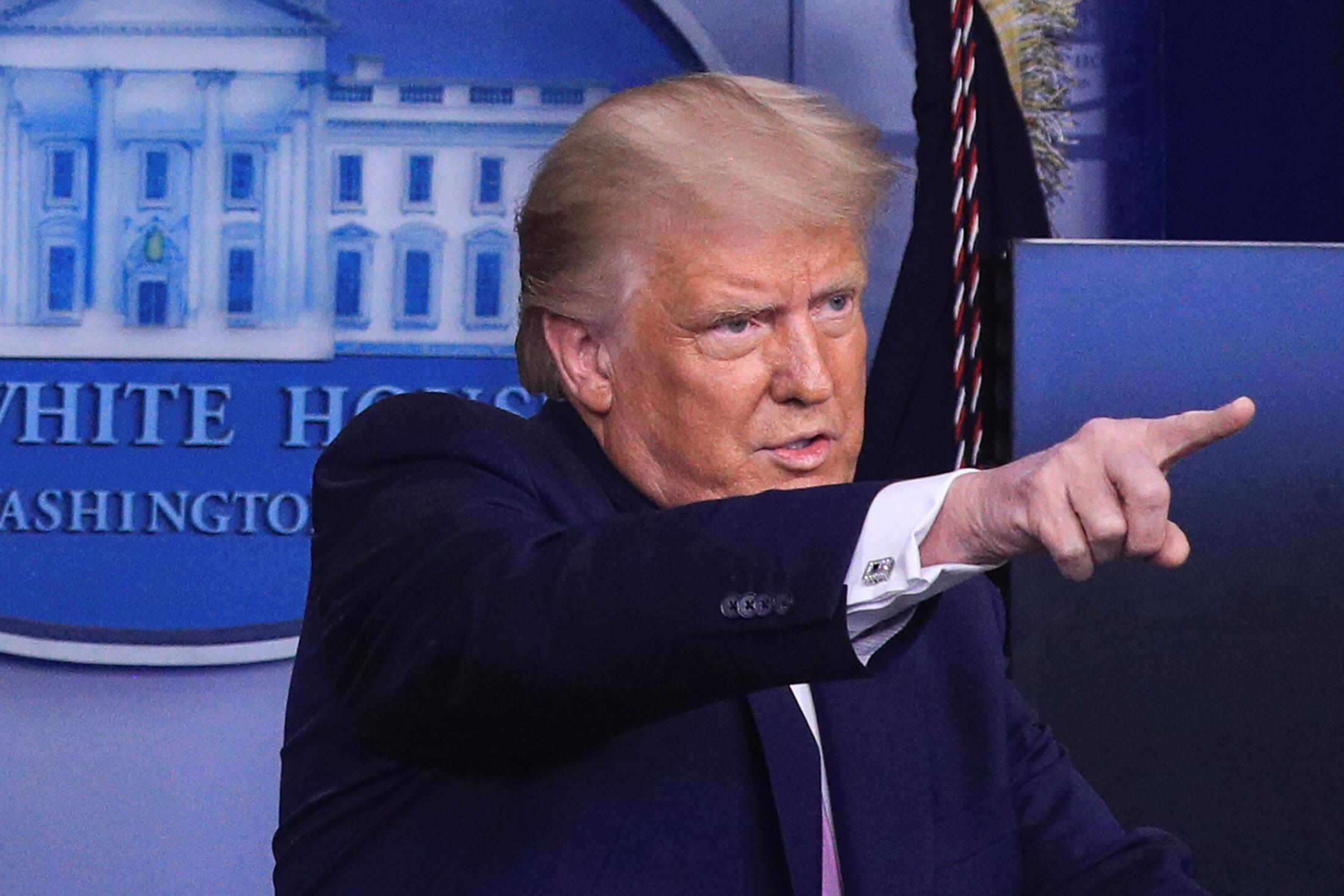 Donald Trump à la Maison Blanche le 19 août 2020.