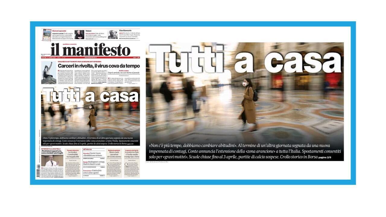 Mesures de confinement étendues à tout l'Italie