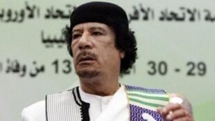 الزعيم الليبي الراحل معمر القذافي