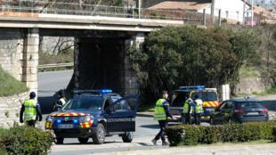 صورة لمكان الحادث في بلدة تريب جنوب غرب فرنسا.