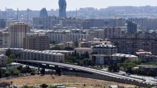 العاصمة الأذربيجانية باكو في 7 حزيران/يونيو 2020