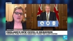 2020-10-13 08:08 UK's PM Johnson imposes further Covid-19 restrictions but anger rising
