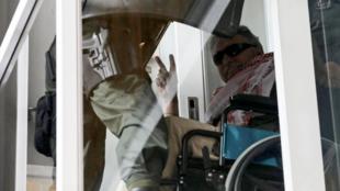'Jesús Santrich' llega al complejo de la corte de Paloquemao en Bogotá, Colombia, el 20 de mayo de 2019.