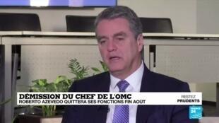 2020-05-14 18:09 En pleine crise économique mondiale, le chef de l'Organisation mondiale du commerce démissionne