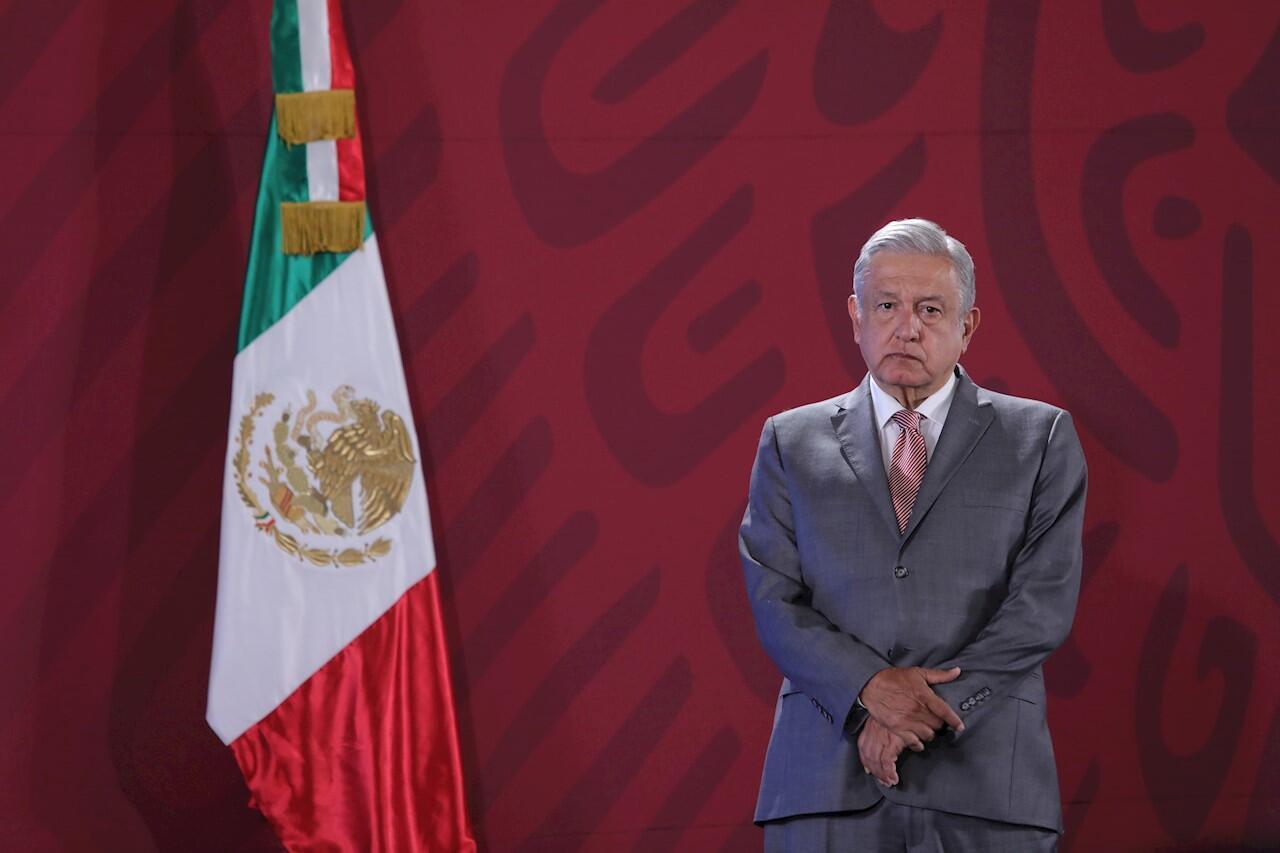 El presidente de México, Andrés Manuel López Obrador, participa este lunes en su conferencia de prensa matutina en Palacio Nacional, en Ciudad de México, el 14 de octubre de 2019.