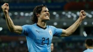 كافاني سجل هدفي الفوز لمنتخب الأوروغواي على البرتغال. 2018/06/30