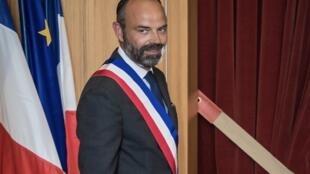 إدوار فيليب في بلديته بمدينة لوهافر (شمال فرنسا) في 20 يونيو 2020.