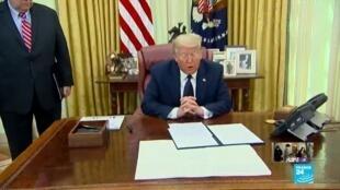 2020-05-29 08:04 Trump signe son décret contre les réseaux sociaux, accusés de pratiques déloyales