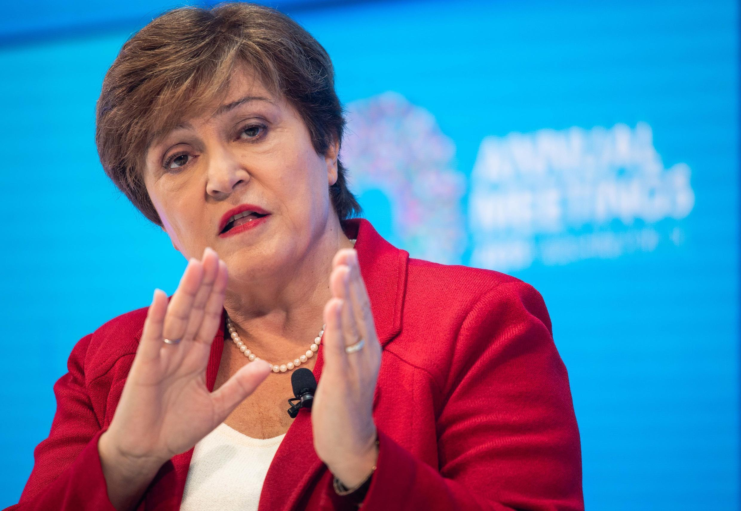 IMF Managing Director Kristalina Georgieva urged G20 officials to accelerate vaccine rollout to poor countries