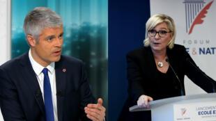 """Laurent Wauquiez et Marine Le Pen accusent Emmanuel Macron de """"naïveté"""" face au terrorisme."""