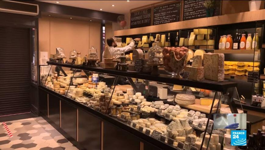 A cheese shop on the western outskirts of Paris