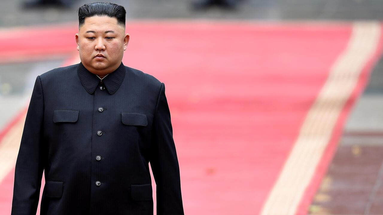 El líder de Corea del Norte, Kim Jong-un, durante la ceremonia de bienvenida en Hanói, Vietnam. 1 de marzo de 2019.