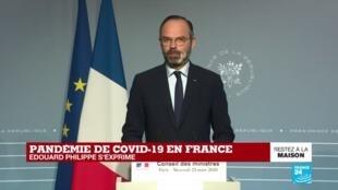 2020-03-25 13:45 Pandémie de coronavirus en France : Édouard Philippe s'exprime après le conseil des ministres