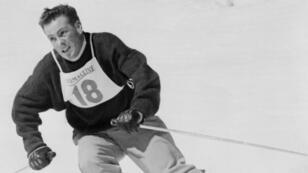 Jean Vuarnet lors des Jeux olympiques d'hiver en 1960 à Squaw Valley, aux États-Unis.