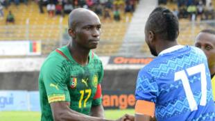 Stephane Mbia lors d'une rencontre de qualification pour la CAN-2015 contre la Sierra Leone, en octobre 2014.