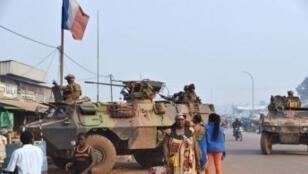 قوات فرنسية في بانغي