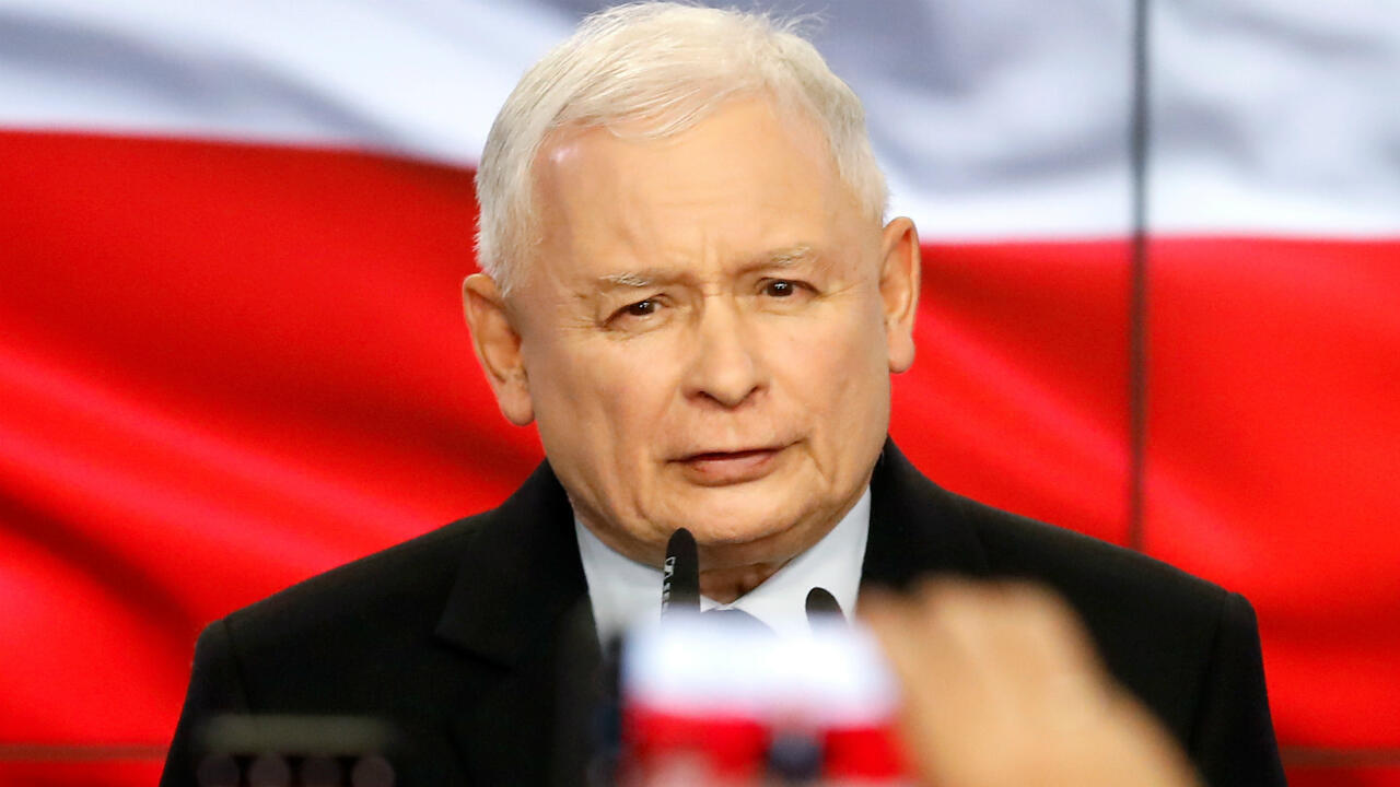 (FILE PHOTO) Jaroslaw Kaczynski, the powerful leader of the governing Law and Justice (PiS).