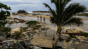 La costa de Acapulco, en el estado mexicano de Guerrero, sufrió con la llegada del Huracán Bud en categoría 3 durante el fin de semana. Junio 11 de 2018.