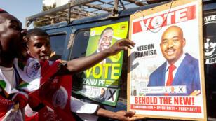 Des supporters du Mouvement pour le changement démocratique (MDC), le 28 juillet 2018.