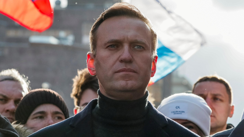 El político opositor ruso Alexei Navalny participa en un mitin en Moscú, Rusia, el 29 de febrero de 2020. Foto de archivo.