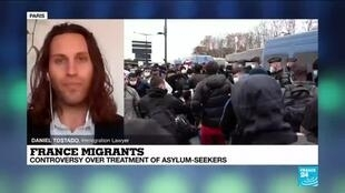 2020-11-26 13:37 France migrants : controversy over treatment of asylum-seekers.