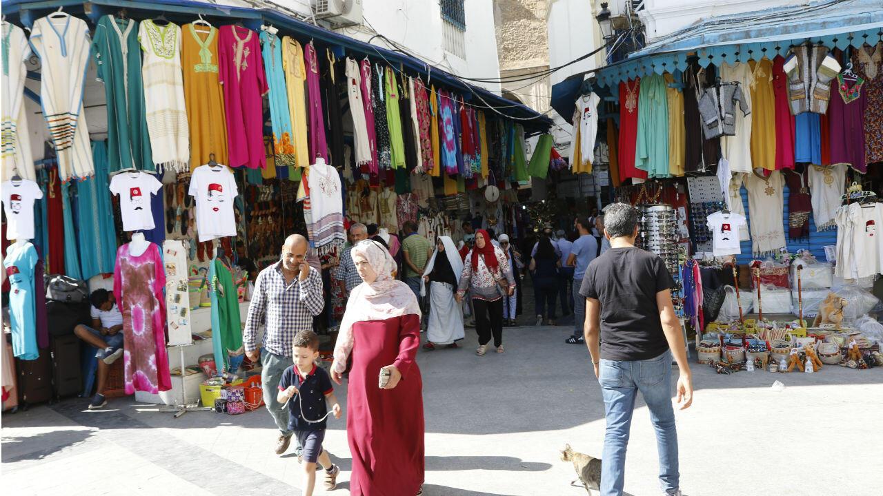 Le marché de la Médina fait partie du centre historique de Tunis.
