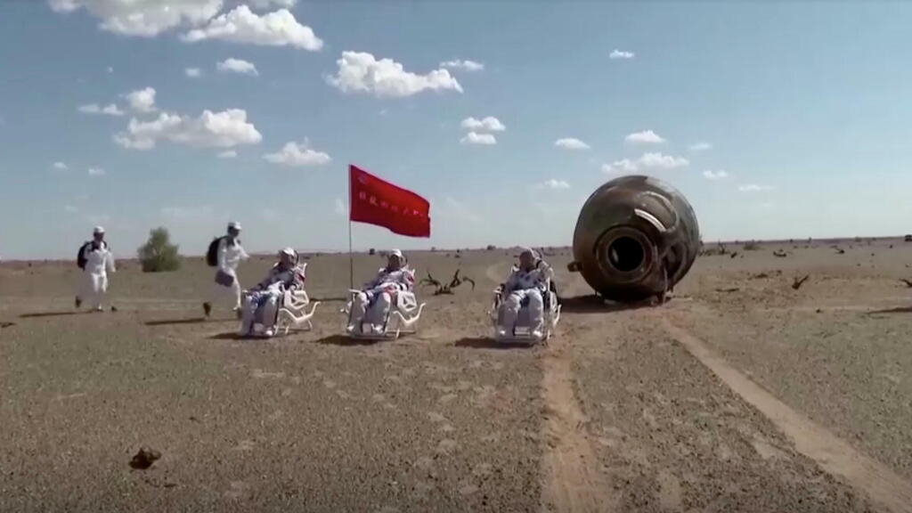 Chinese astronauts return to earth after 90-day mission to space station