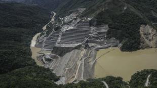 Una vista general del proyecto hidroeléctrico de la represa de Hidroituango.