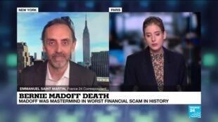 2021-04-14 17:01 Bernie Madoff, mastermind of worst financial crime in US history, dies in prison